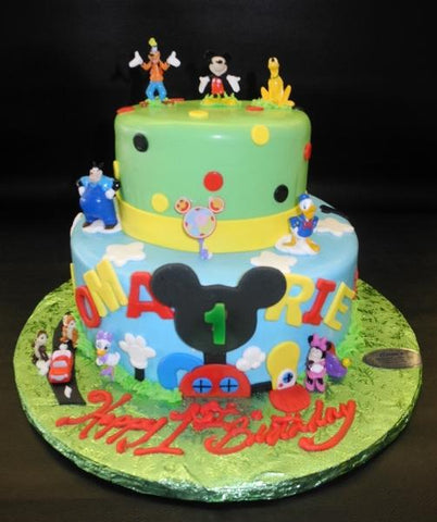 Mickey Mouse Fondant Cake with Edible Cut-out Name