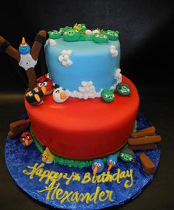 Angry Birds Fondant Birthday Cake