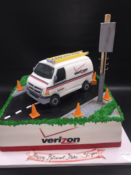 Verizon truck cake. CS0286