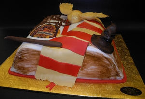 Harry Potter Fondant Book Cake