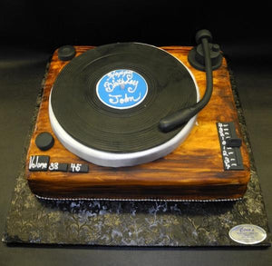 DJ Turntable Fondant Custom Cake