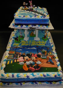 Mickey Mouse Whip Cream Full Sheet Cake