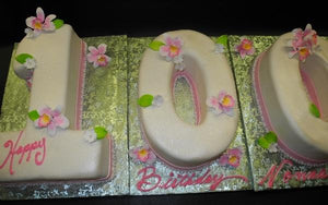 Awesome Number 100 Fondant Birthday Cake Cs0138 Circos Pastry Shop Funny Birthday Cards Online Aboleapandamsfinfo