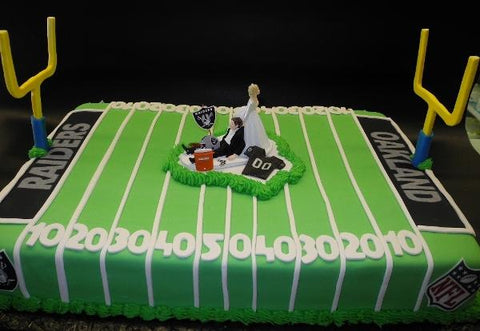 Football Field Wedding Fondant Cake