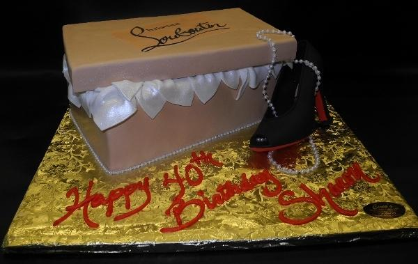 Shoe Box with Red Bottom 3D Fondant Shoe