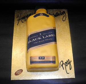 Black Label Fondant Edible Bottle