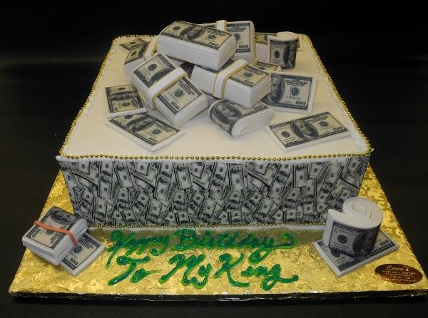 Money Fondant Birthday Cake