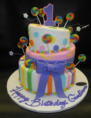 Candy Land 1st Birthday Cake
