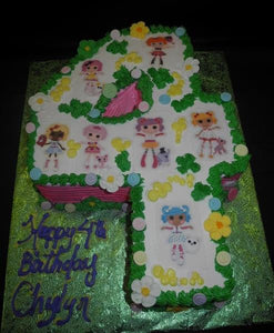 Lalaloopsy Number Whip Cream Cake - B0562