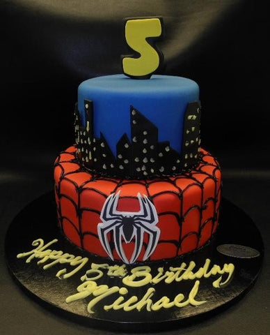 Spiderman Fondant Cake - B0207