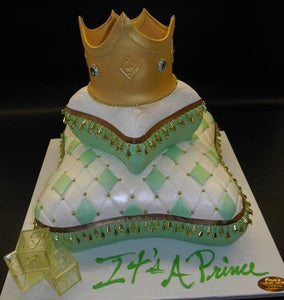 Prince Theme Pillow Baby Shower Cake - BS260