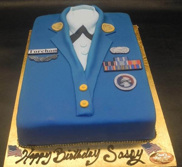 Air Force Custom Fondant Cake 156