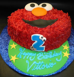 Elmo Face Birthday Cake 634