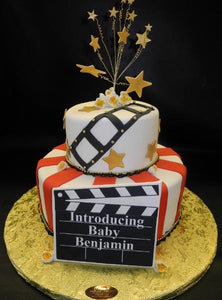 Hollywood Baby Shower Fondant Cake 241