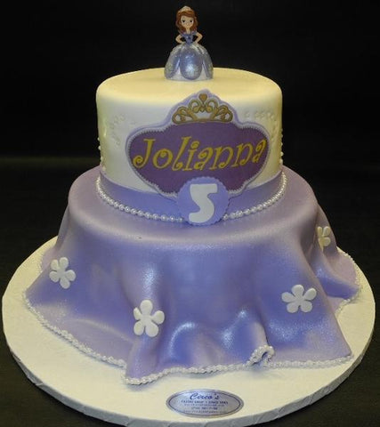 Sofia the First Fondant Cake