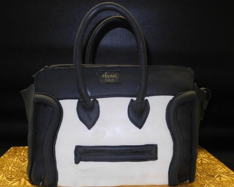 Celine Black and White Fondant Cake