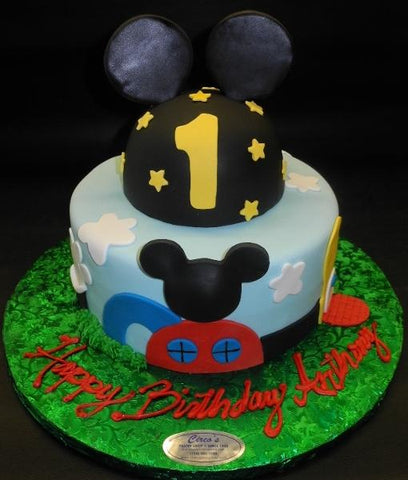 Mickey Mouse Anchor Fondant Cake