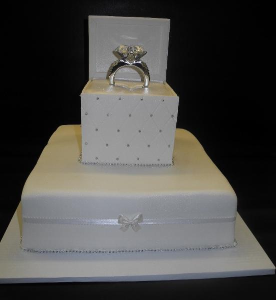 Engagement Ring Box Fondant Cake