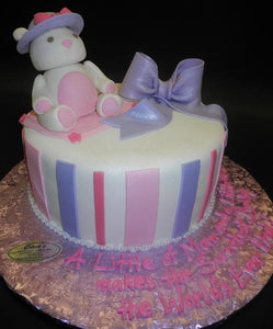 Bear Edible Baby Shower Fondant Cake