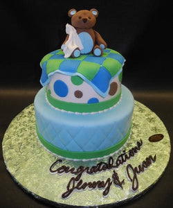 Bear Edible Fondant Baby Shower Cake