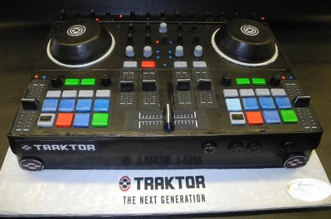 DJ Traktor Turntable Fondant Custom Cake