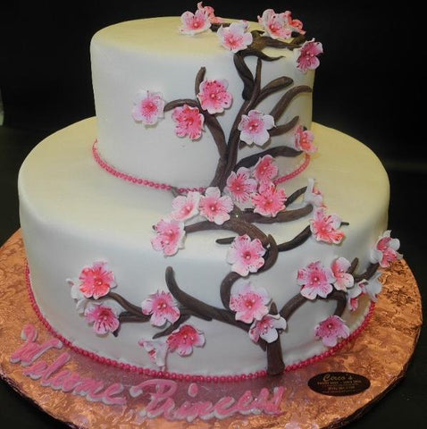 Fruit Blossom Fondant Baby Shower Cake