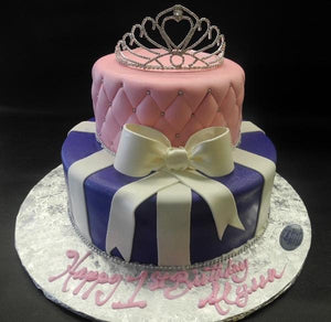 Princess Purple and Pink Fondant Cake