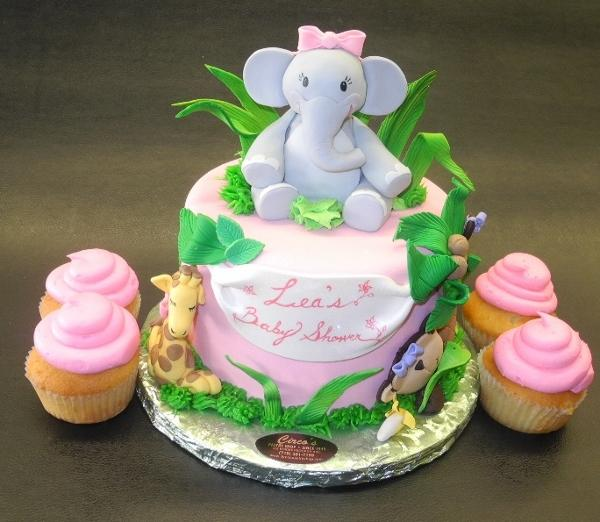Elephant Baby Shower Theme Cake