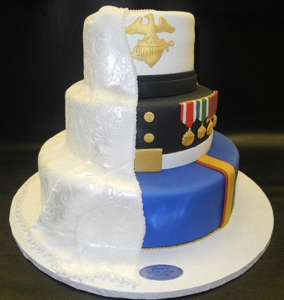 Marine Wedding Fondant Cake