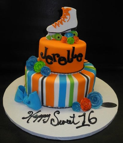 Astounding Products Tagged Roller Skate Birthday Sweet 16 Cake Circos Personalised Birthday Cards Petedlily Jamesorg