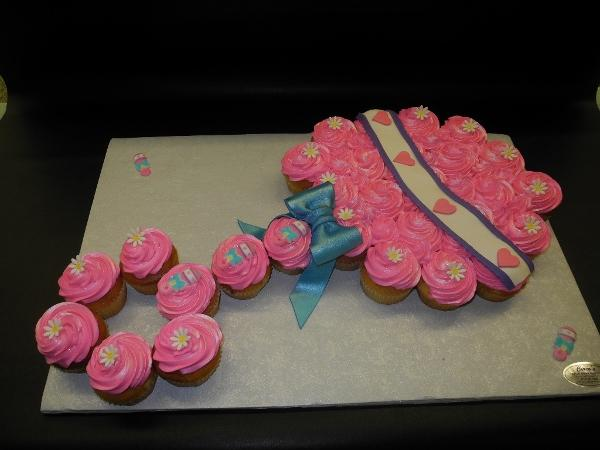 Rattle Cupcake Baby Shower Custom Shape