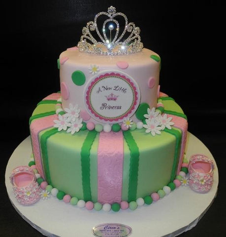Princess Baby Shower Fondant Cake