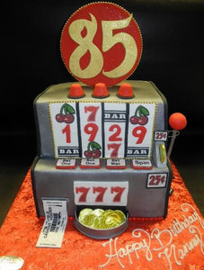Casino Slot Machine Fondant Cake
