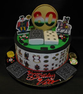 Sicilian Scopa Card Game Birthday Cake