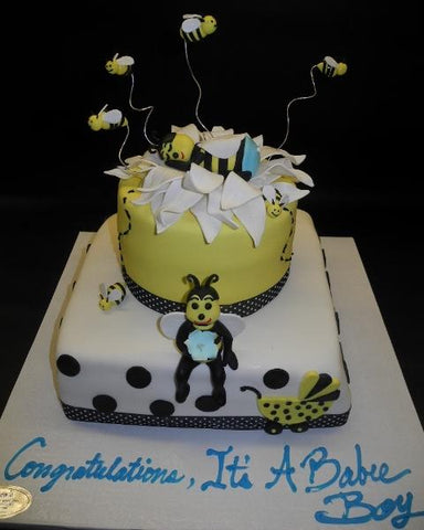 Bee Theme Baby Shower Cake