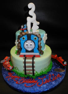 Thomas the Train Fondant Cake