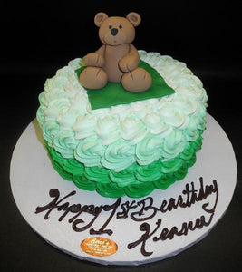 Rosebud Teddy Bear 1st Birthday Cake