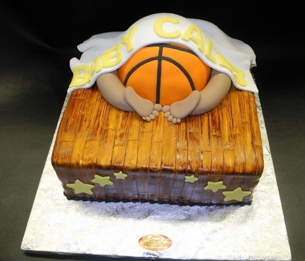Baby Bottom NBA Fondant Cake