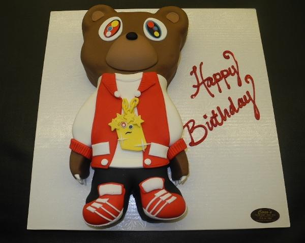 Dropout Bear Fondant Custom Cake
