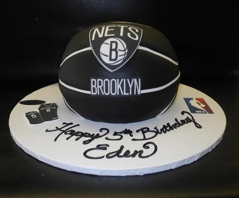 Nets Basketball Cake