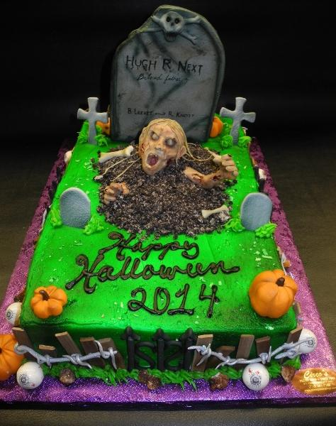 Halloween Custom Whip Cream and Fondant Cake