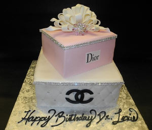 Chanel Dior Diamond Fondant Cake