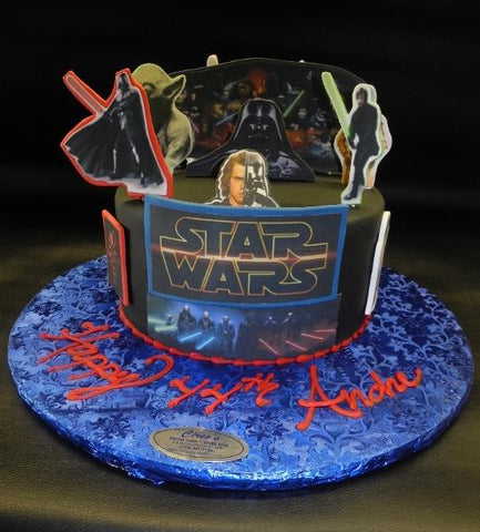 Star Wars Fondant Custom Cake