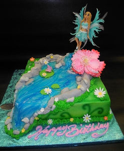 Fairy Custom Fondant and Whip Cream Cake