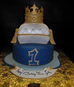 Pillow Prince 1st Birthday Cake