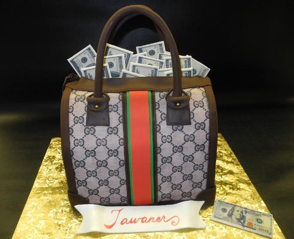 Loui Vuitton Fondant Purse Cake