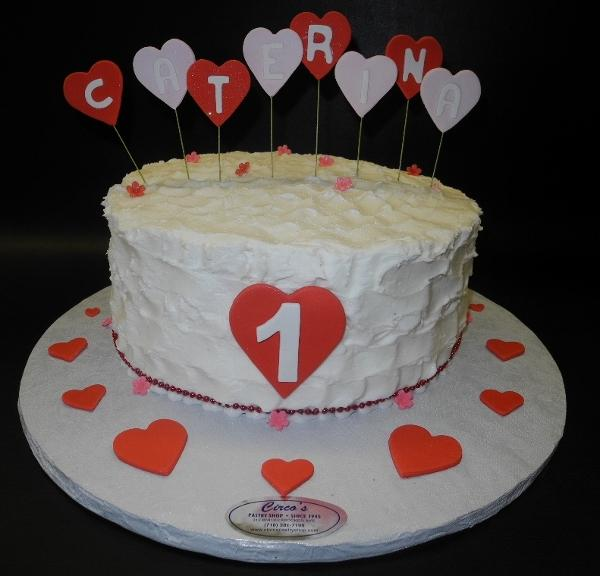 Heart First Birthday Cake