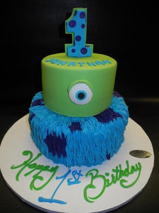 Brilliant Monster Inc Fondant Cake B0045 Circos Pastry Shop Personalised Birthday Cards Veneteletsinfo