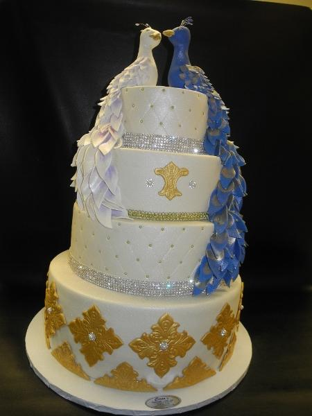 Love Birds Custom Fondant Wedding Cake