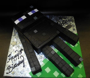 Minecraft Enderman Fondant Custom Cake